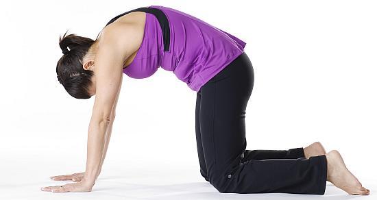 Marjaryasana yoga pose